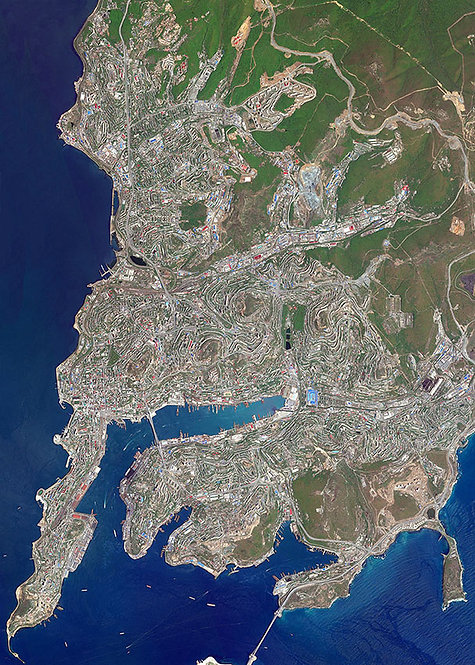 Карта Владивостока со спутника