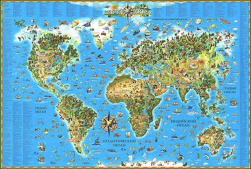 Карта Мира детская