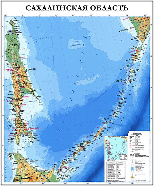 Карта Сахалинской области