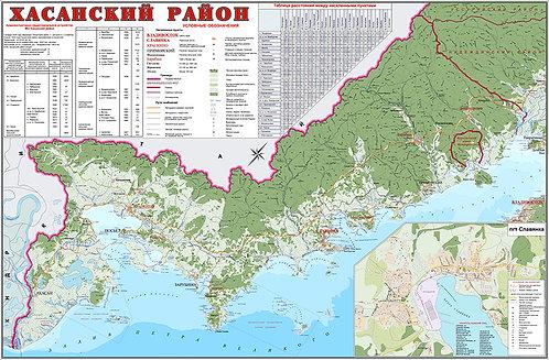Карта Хасанского района (Приморский край)