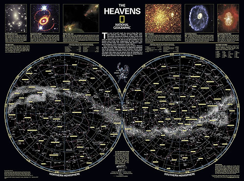 Карта Звездного неба на английском языке