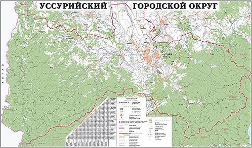 Карта Уссурийского городского округа