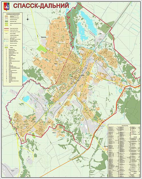 Карта Спасск-Дальний
