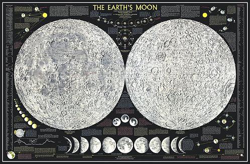 Карта Луны на английском языке