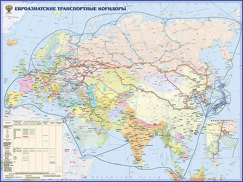 Карта Евроазиатские Транспортные коридоры