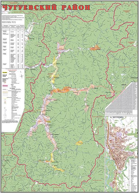 Карта Чугуевского района (Приморский край)