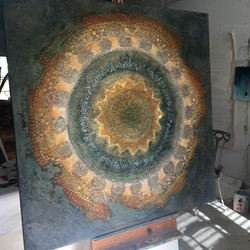 Venice Mandala easel