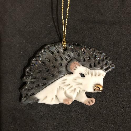 Hedgehog Ornament - Grey