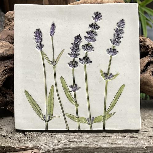Lavender Botanical Wall Tile