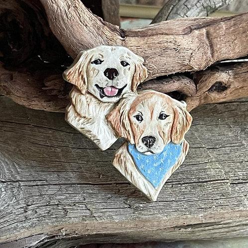 Labrador Retriever pair