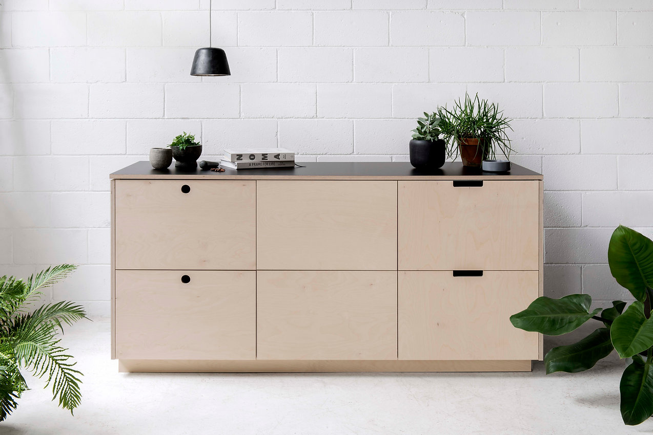 Arkie Natural Plywood Kitchen Fronts