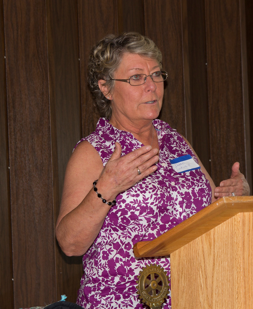 Debbie Luckinbill explains how the Special Olympics work.