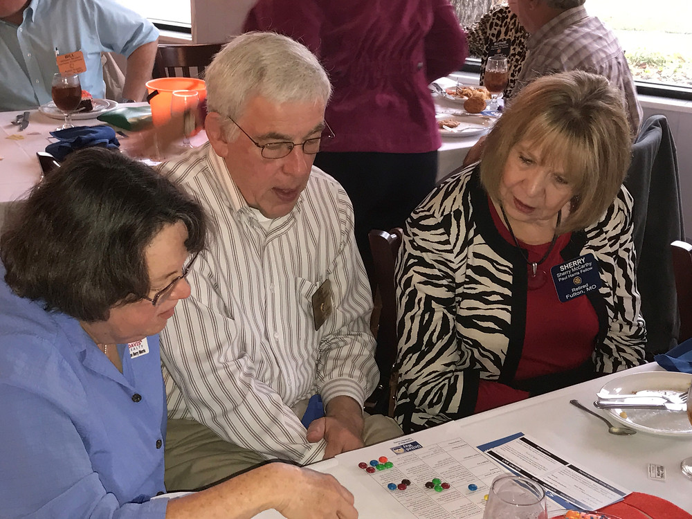 From left, Joan Berry Morris, Ray Brown, and Sherry McCarthy try to make ends meet to see what some members of our community go through each day.