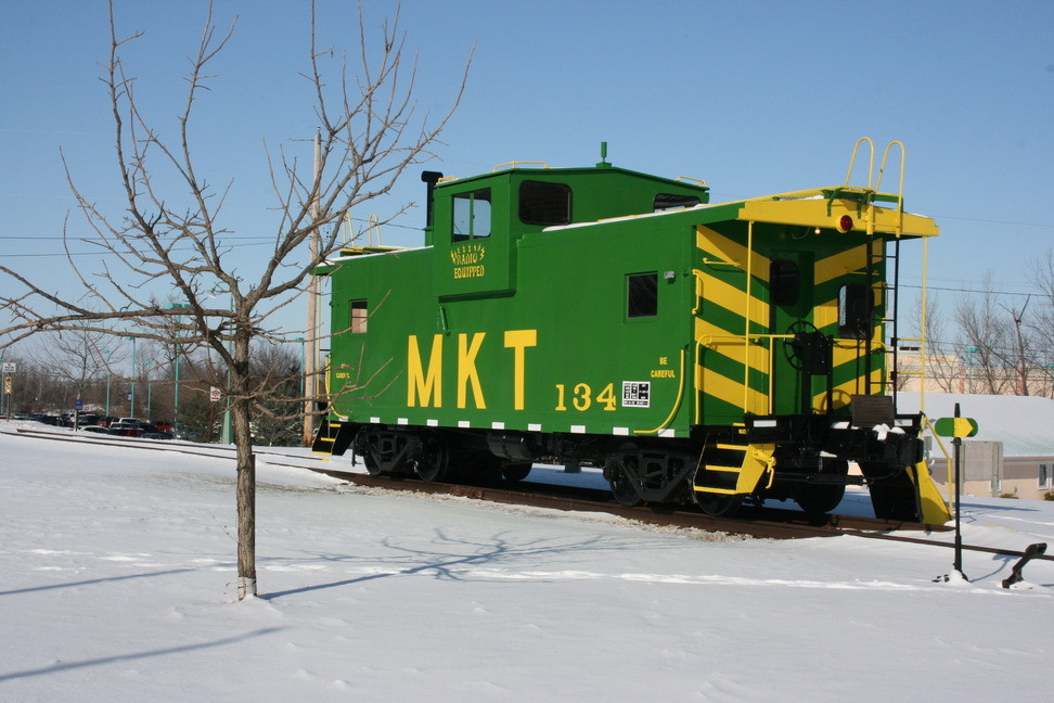 A caboose from the MKT Railrod