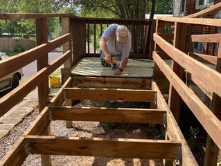 """Fulton Rotary Members Build Ramp for """"Our House"""""""
