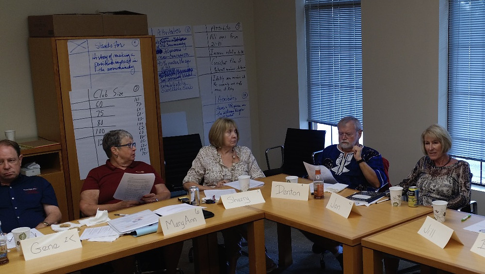 Club members discuss their vision for the Rotary Club of Fulton.