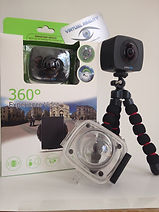 Virtual Reality full 360 camera with Waterproof Case