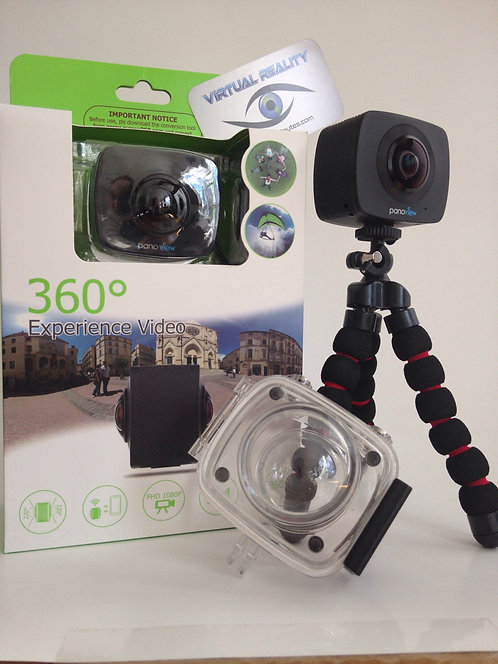 Virtual Reality full 360 sport Camera plus Water Proof Case