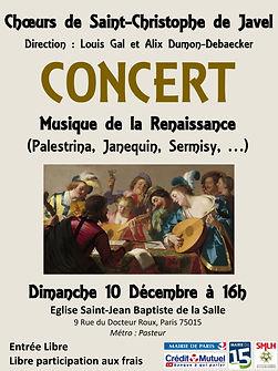Concert Décembre 2017 - Choeurs de Saint-Christophe de Javel