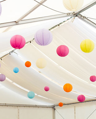 Lanterns in a Tent
