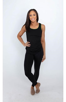 04103 Scoop neck fitted tank with racer back and trim