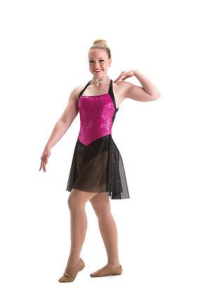 Wide Strap Dress w Dance Flex Lining $61-$68
