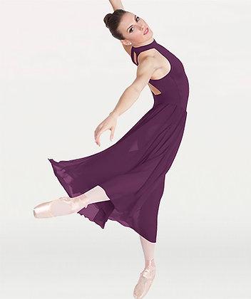 Long Mock T-Neck Dance Dress $54.99