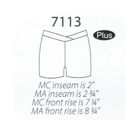 MW 7113 V-Waist Shorts