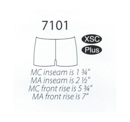MW 7101 Low Rise Shorts