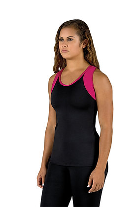 V-Neck Racerback 2-Tone Top