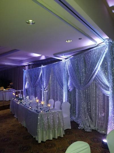 Backdrop/Court Table Decor