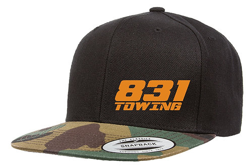 Camo/Black Snapback Hat