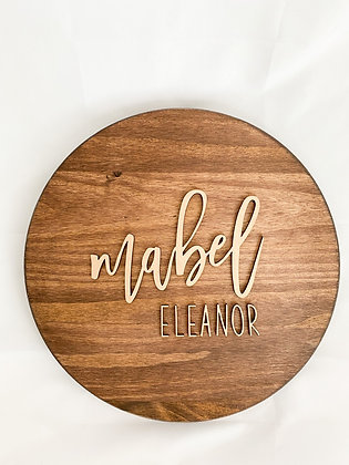 Circular Name Sign