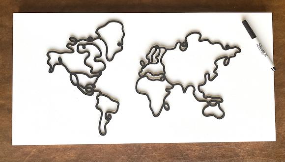 World Map Guestbook Wall Art