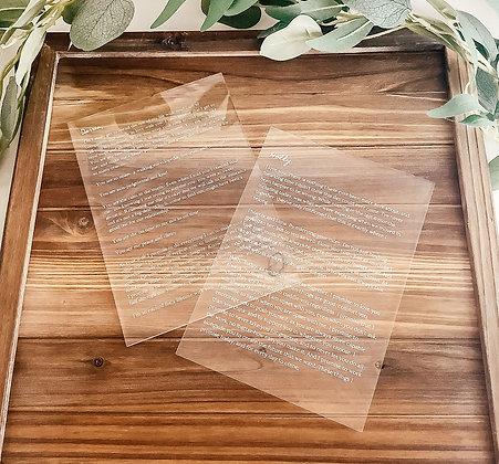 Acrylic Vows