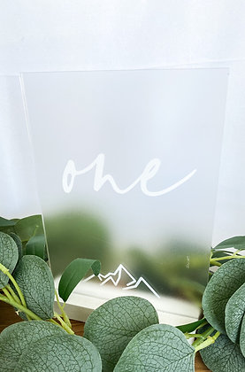 Mountain Icon Acrylic Table Numbers
