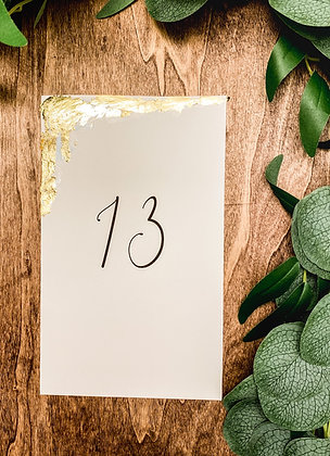 Gold Leaf Table Numbers