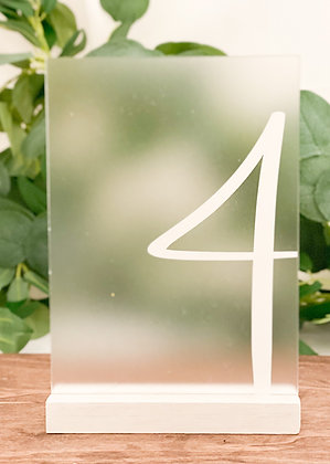 Acrylic Table Numbers - Numerals