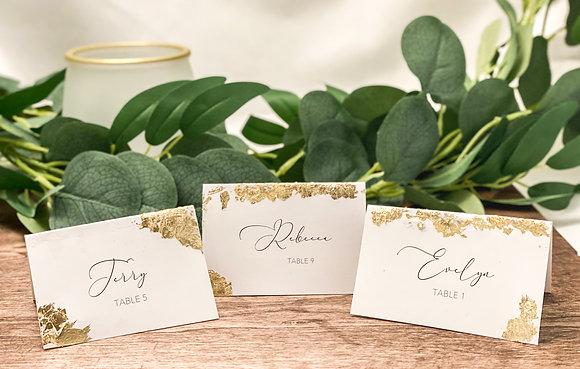 Gold Leaf Place Cards Escort Cards