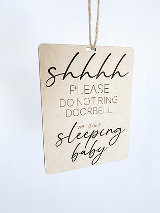 Shh Baby Sleeping Door Sign