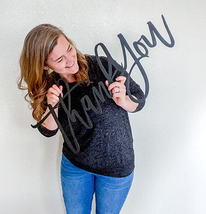 Oversized Thank You Sign