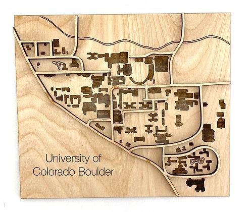 University of Colorado Boulder Campus Map Wall Art