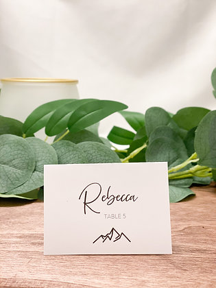 Mountain Icon Place Cards Escort Cards