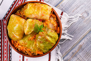 Stuffed cabbage leaves with meat. Cabbag