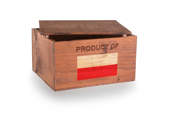 Wooden crate isolated on a white backgro