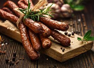 Kabanosy, polish sausages made of pork o