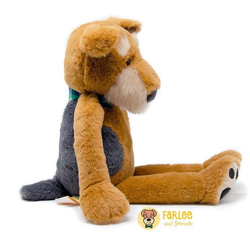 Farlee and Friends - Dog Plush - Airedale Terrier Plush- Welsh Terrier - Stuffed