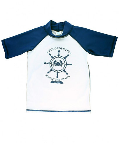 Rugged Butts Short Sleeve Nautical Rash Guard