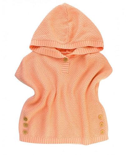 Ruffle Butts Apricot Poncho Sweater