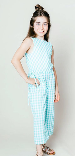 Gabby Girl Gingham Romper